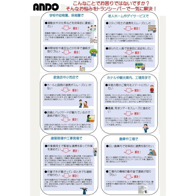 ポケットトランシーバー2個セット T17-042LY-2P ANDO製【避難生活用品】|minakami119|02