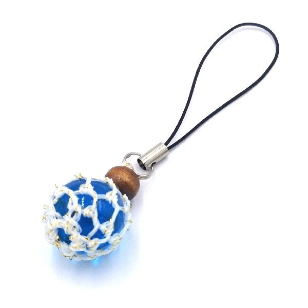 福幸玉 ストラップ 手作り おしゃれ かわいい 浮き球 浮き玉 ビン玉 ガラス玉 ネコポス対応 泊貝っこ|minamisanriku-hukko|09
