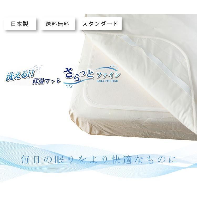 洗える除湿マット シングル (高級放湿繊維モイスファイン・スタンダードタイプ)(除湿マットS★70001★) minamoto-bed 02