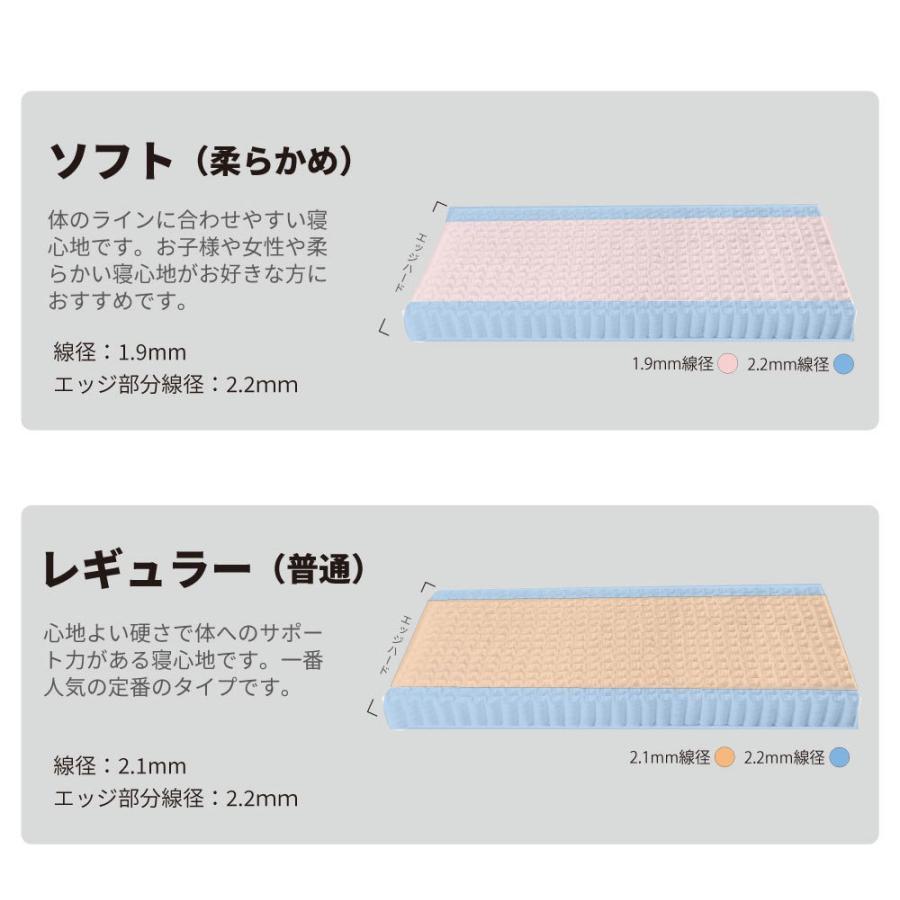 脚付きマットレス シングルベッド  国産 | ポケットコイル(MCB810-S-P)|minamoto-bed|05