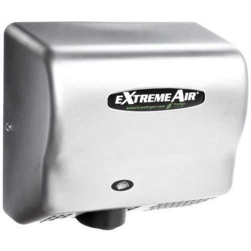 American Dryer ExtremeAir GXT9-SS Stainless Steel Cover High-Speed Automatic Hand Dryer, 10-12 Second Dries, 100-240V, 1,500W Maximum Power,