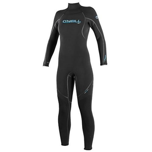 O'Neill Women's Dive Sector 3mm Back Zip Full Wetsuit, Black, 12【並行輸入品】