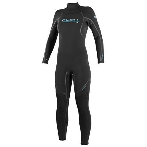 O'Neill Women's Dive Sector 5mm Back Zip Full Wetsuit, Black, 8【並行輸入品】