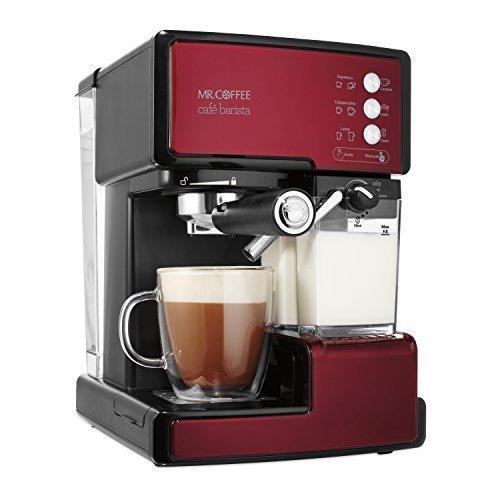 Mr。Coffeeカフェバリスタエスプレッソメーカーwith Automatic milk frother、bvmc-ecmp1000 レッド BVMC-ECMP1106【並行
