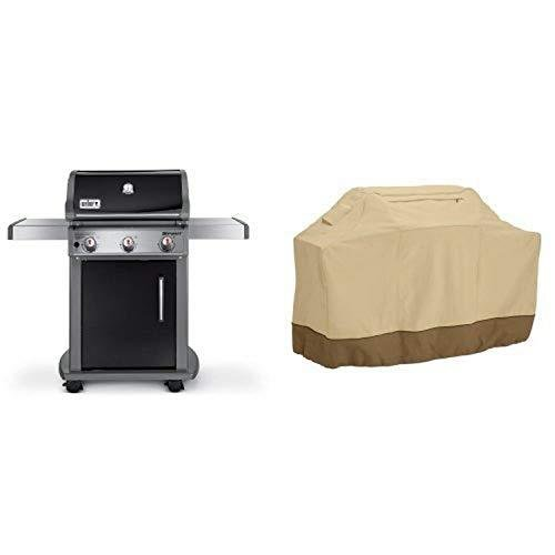 Weber 47510001 Spirit E310 Natural Gas Grill, Black with Classic Accessories Cover【並行輸入品】