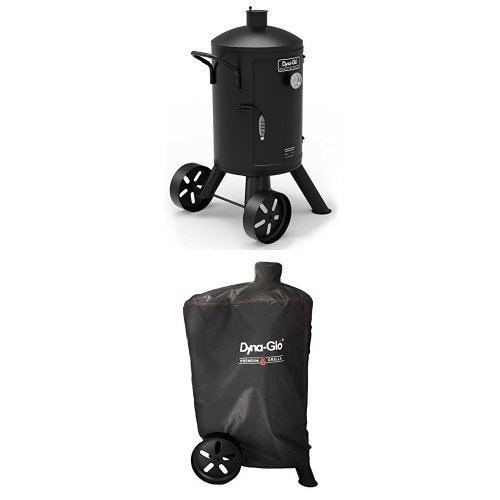 Dyna-Glo Signature Series DGSS681VCS-D Heavy-Duty Vertical Charcoal Smoker and Smoker Grill Cover【並行輸入品】