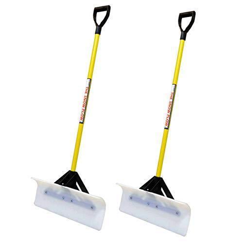 "2PK Snow Plow 24"" Wide Shovel Push Plow Commercial Residential D-Grip 50524【並行輸入品】"