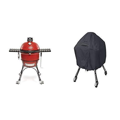 Kamado Joe KJ23RHC Classic II Charcoal Grill, 18 inch, Blaze Red & Classic Accessories 55-395-040401-EC Ravenna Water-Resistant 22 Inch Kama