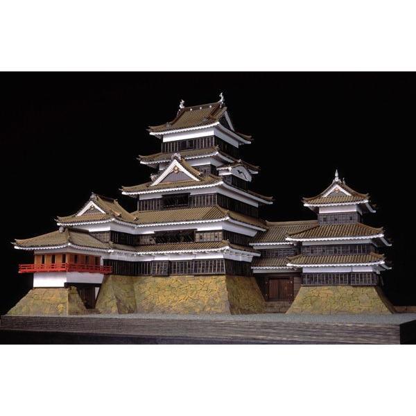 アートモデルK1 小林工芸 1/80 松本城 木製美術建築模型