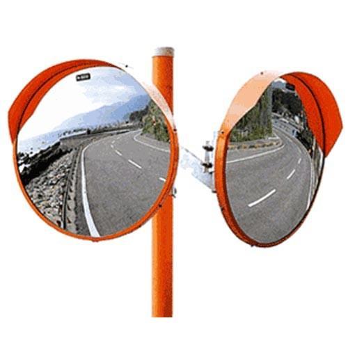 ナック 大型カーブミラー+支柱付 1000Ф 2面鏡 ステンレス [大型カーブミラー ステンレスミラー カーブミラー]