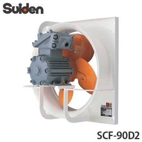 スイデン 有圧換気扇 安全増防爆型 SCF-90D2 (三相200V/1速式/ハネ径90cm)