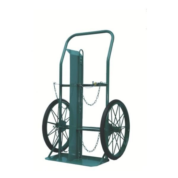 KS ボンベ運搬車(大車輪型)酸素7000L容器、アセチレン7.0kg容器用 KUO [KU-O][r22]