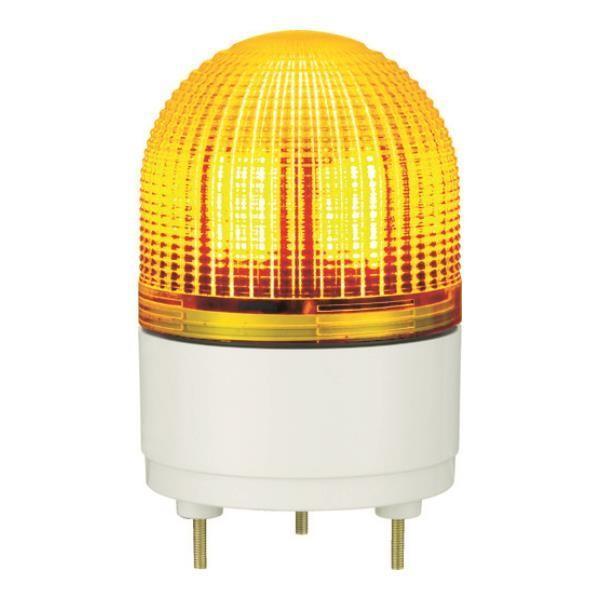 パトライト KHE型 LED表示灯 Φ100 点滅・流動・ストロボ発光 黄 KHE24Y (Y) [KHE-24-Y][r22]