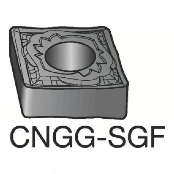サンドビック T-Max P 旋削用ネガ·チップ 1105 CNGG120404SGF ×10個セット (1105) [CNGG120404-SGF][r20][s9-831]