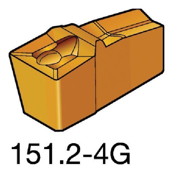 サンドビック T-Max Q-カット 突切り·溝入れチップ 1125 N151.2600504G ×10個セット (1125) [N151.2-600-50-4G][r20][s9-831]