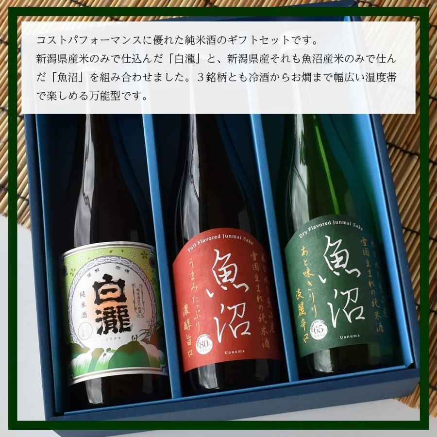 白瀧酒造 純米酒ギフトセット 720ml×3本入り minatoya 04