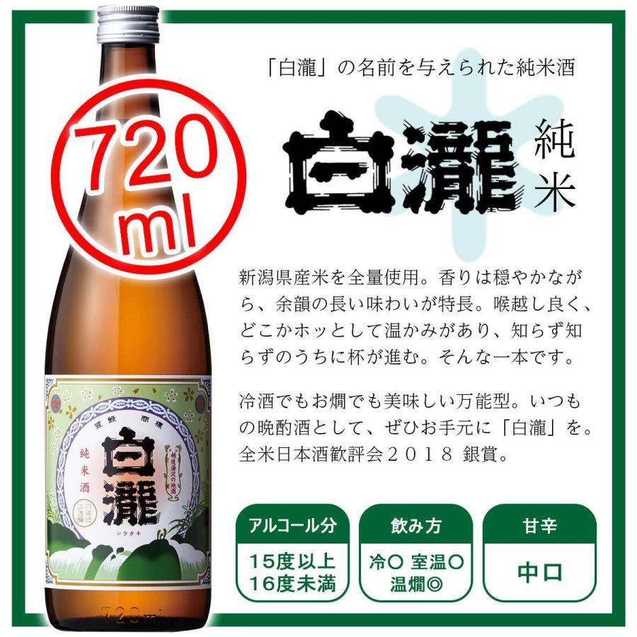 白瀧酒造 純米酒ギフトセット 720ml×3本入り minatoya 05