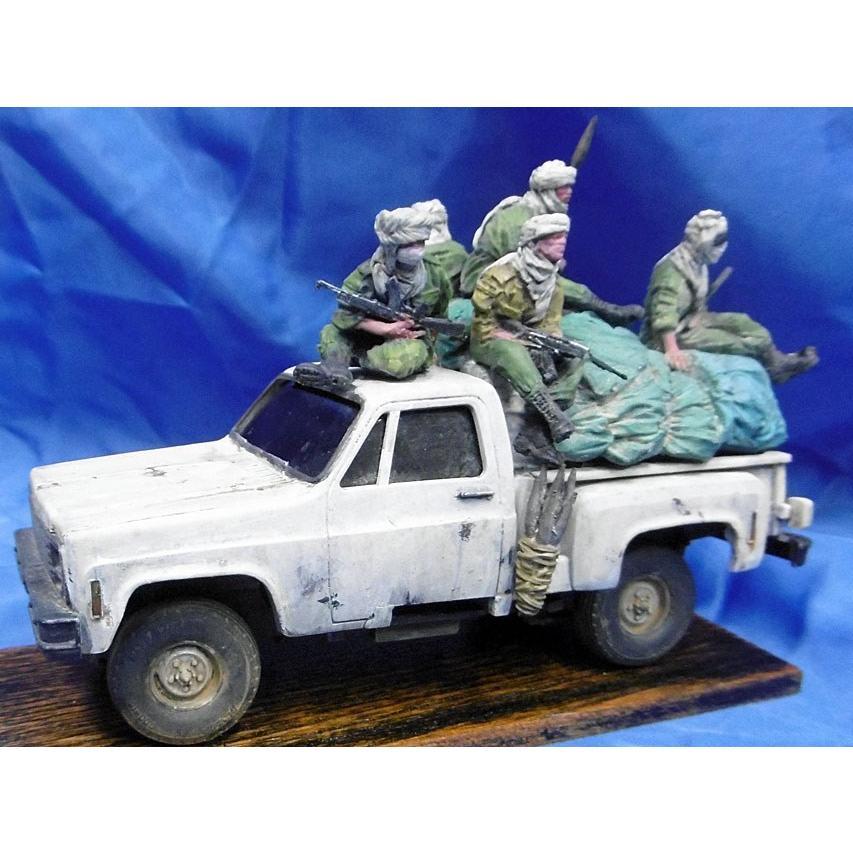 現用 チャド内戦 ピックアップクルー(7体入。荷物・アクセサリー付き) Chadian pickup crew contains 7fig plus stowage, accessories 1/35 [ACM-35026]