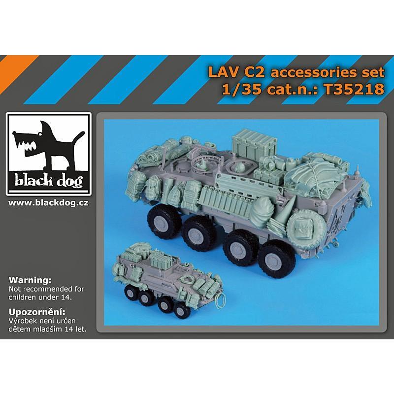 *現用アメリカ海兵隊 LAV-C2指揮通信車 アクセサリーセット (トランぺッター用) LAV C 2 accessories set for Trumpeter 1/35 [BD-T35218]