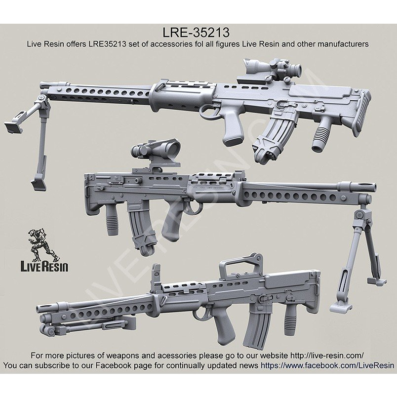 LIVE RESIN L86A1 Light Support Weapon 1:35 LRE35213
