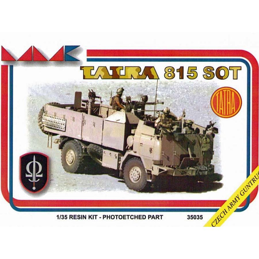 現用チェコ陸軍 スペシャルフォース タトラT815SOTガントラック アフガニスタン フルキット(エッチング/デカール付) TATRA 815 SOT 1/35