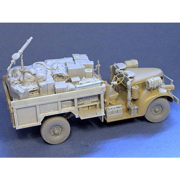 イギリス軍 LRDG シボレー30CWT デティール&荷物セット(タミヤ デザートシボレー用) Detail and stowage set for TAMIYA LRDG Radio Chevrolet. 1/35