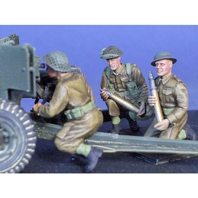 イギリス軍 6ポンド砲クルー(3体入) 6 Pounder Infantry Crew 1/35