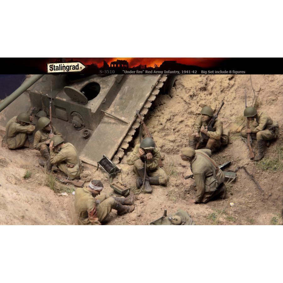 「砲火の下で」 ロシア赤軍 歩兵 1941-42年(8体セット)