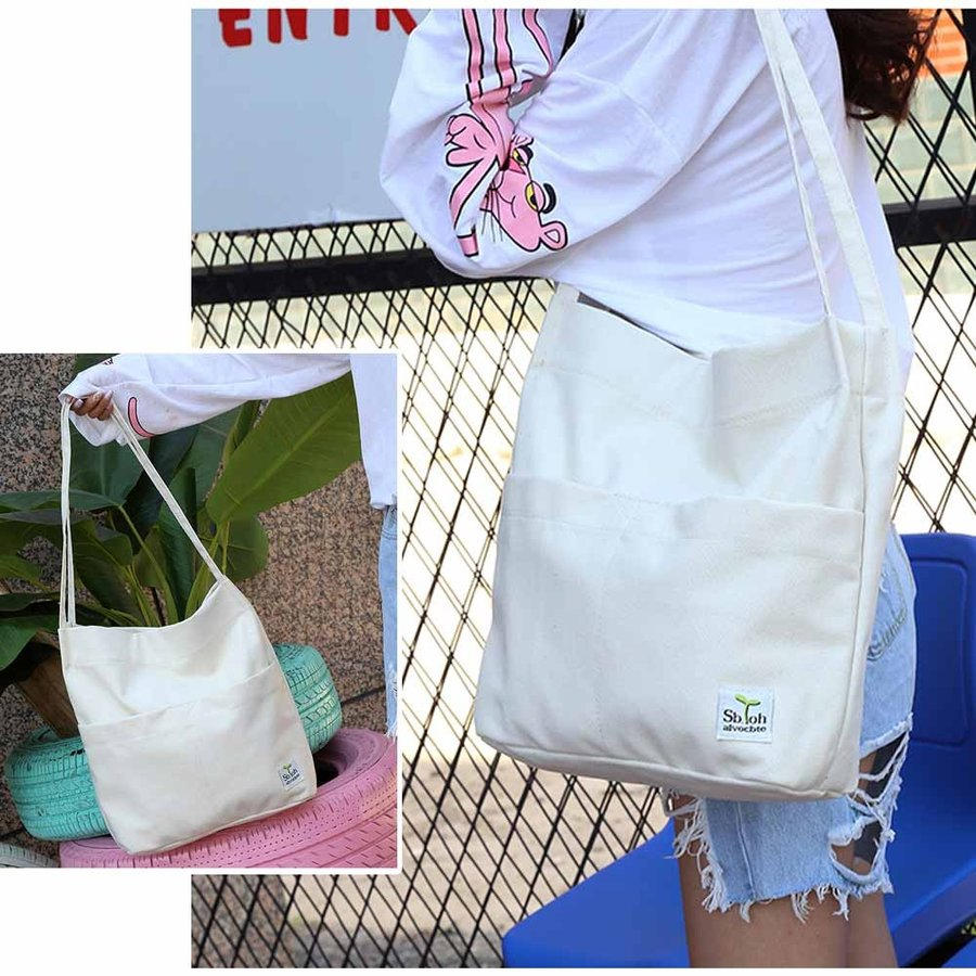 キャンバストートバッグ ショッピングバッグ 肩掛け ショルダーバッグ カジュアル 通学 バッグ【ネコポスのみ】|miniministore|07