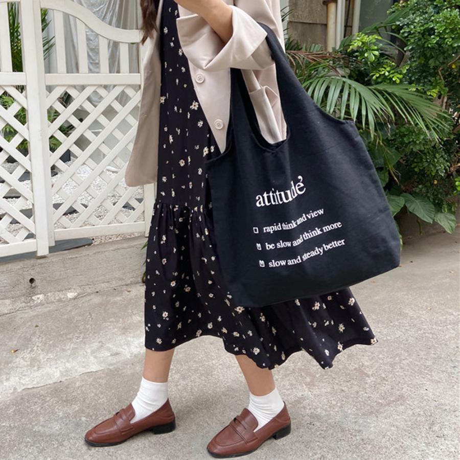 ロゴキャンバスバッグ レディースa4キャンバストートバッグ 大容量 可愛い 布 軽量 エコバッグ 帆布 ホワイト【ネコポス可】|miniministore|14