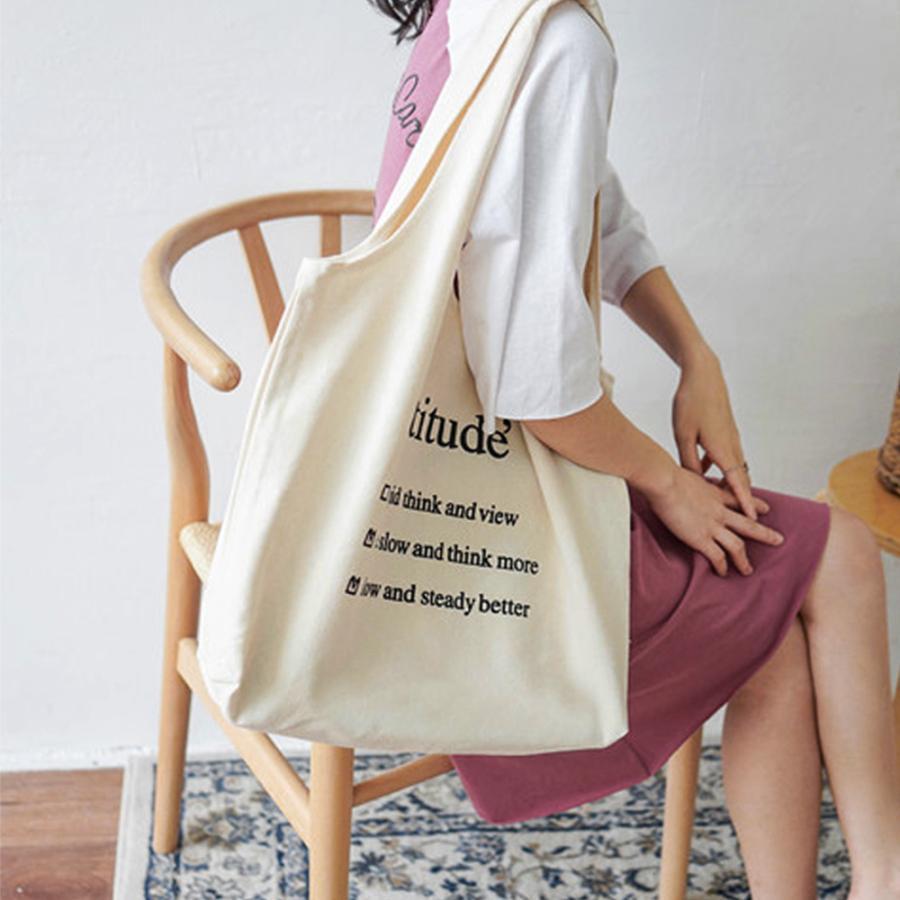 ロゴキャンバスバッグ レディースa4キャンバストートバッグ 大容量 可愛い 布 軽量 エコバッグ 帆布 ホワイト【ネコポス可】|miniministore|08