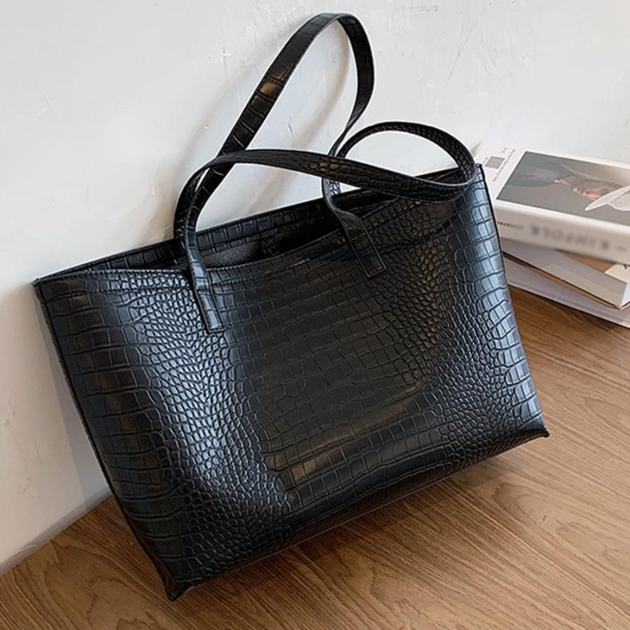 A4 トートバッグ クロコダイル柄 鞄 かばん 大容量 OL 通勤通学 レディース 手提げバッグ ビッグサイズ miniministore 11
