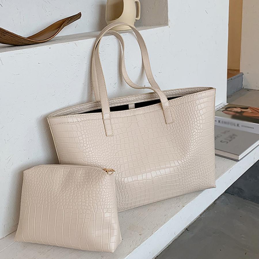 A4 トートバッグ クロコダイル柄 鞄 かばん 大容量 OL 通勤通学 レディース 手提げバッグ ビッグサイズ miniministore 12
