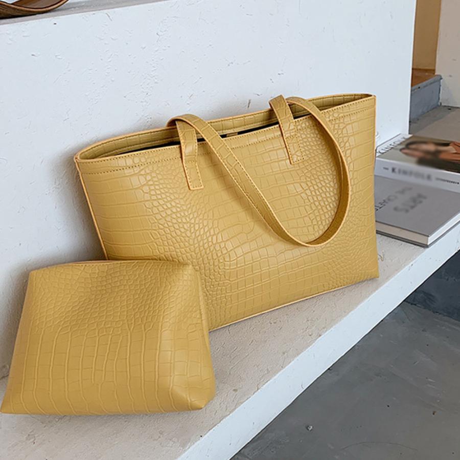 A4 トートバッグ クロコダイル柄 鞄 かばん 大容量 OL 通勤通学 レディース 手提げバッグ ビッグサイズ miniministore 14
