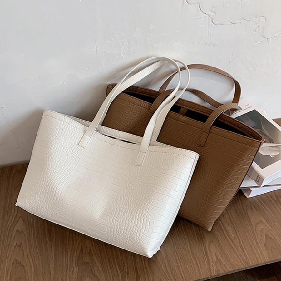 A4 トートバッグ クロコダイル柄 鞄 かばん 大容量 OL 通勤通学 レディース 手提げバッグ ビッグサイズ miniministore 15