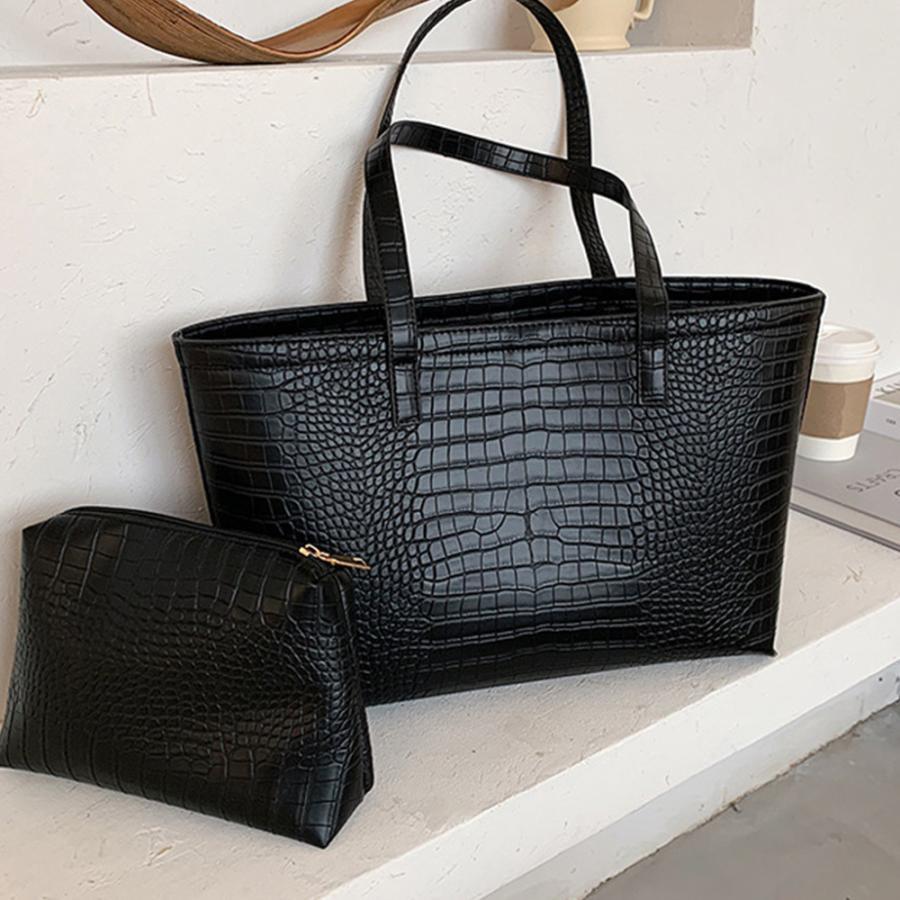 A4 トートバッグ クロコダイル柄 鞄 かばん 大容量 OL 通勤通学 レディース 手提げバッグ ビッグサイズ miniministore 04