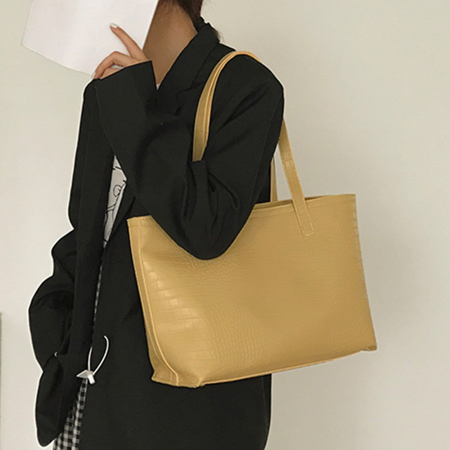 A4 トートバッグ クロコダイル柄 鞄 かばん 大容量 OL 通勤通学 レディース 手提げバッグ ビッグサイズ miniministore 07