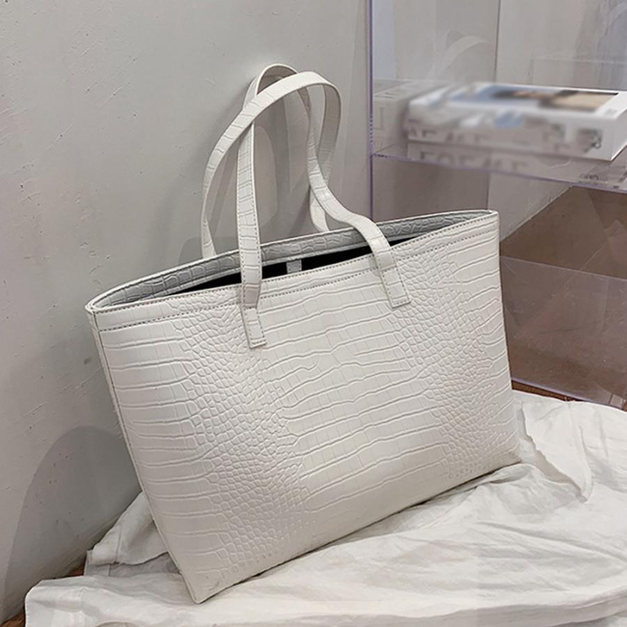 A4 トートバッグ クロコダイル柄 鞄 かばん 大容量 OL 通勤通学 レディース 手提げバッグ ビッグサイズ miniministore 10