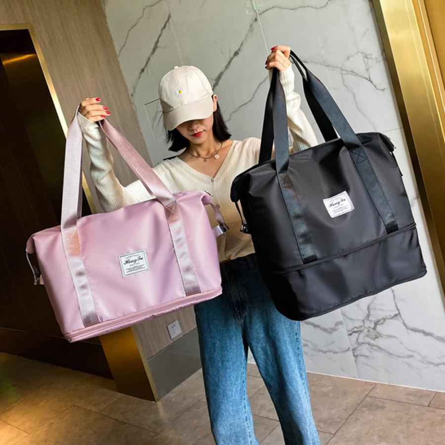 キャリーオンバッグ トラベルバッグ レディース 大容量 旅行バッグ はっ水加工 ボストンバッグ 男女兼用|miniministore|16