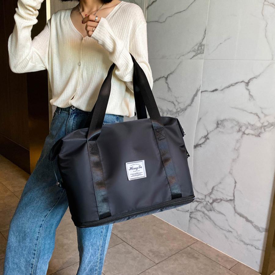 キャリーオンバッグ トラベルバッグ レディース 大容量 旅行バッグ はっ水加工 ボストンバッグ 男女兼用|miniministore|05