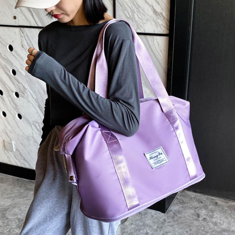 キャリーオンバッグ トラベルバッグ レディース 大容量 旅行バッグ はっ水加工 ボストンバッグ 男女兼用|miniministore|07