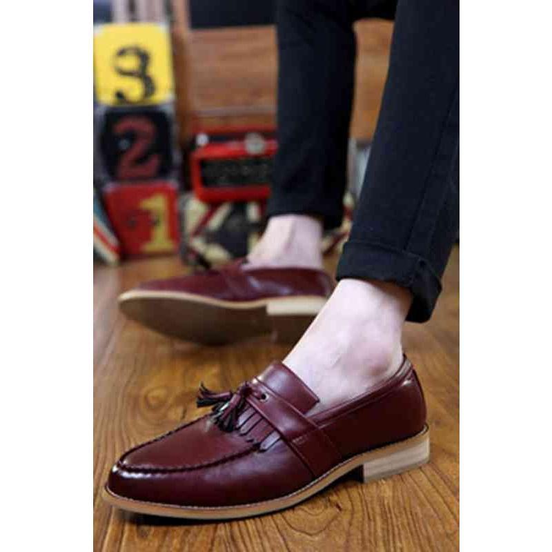 高級 革靴 メンズ ビジネスシューズ 3色 ローファー タッセル スリッポン レザー 皮  カジュアル シンプル デッキ ウォーキング ブーツ 靴 紳士靴 送料無料
