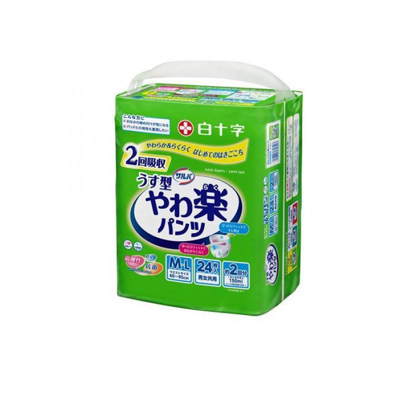 サルバ やわ楽パンツ 24枚 (M-L)|minoku-value