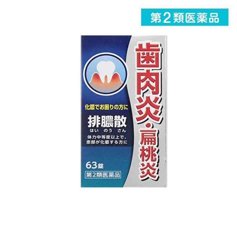 排膿散エキス錠J 63錠 漢方薬 飲み薬 歯肉炎 第2類医薬品 オープニング 大放出セール 扁桃炎 市販 出群