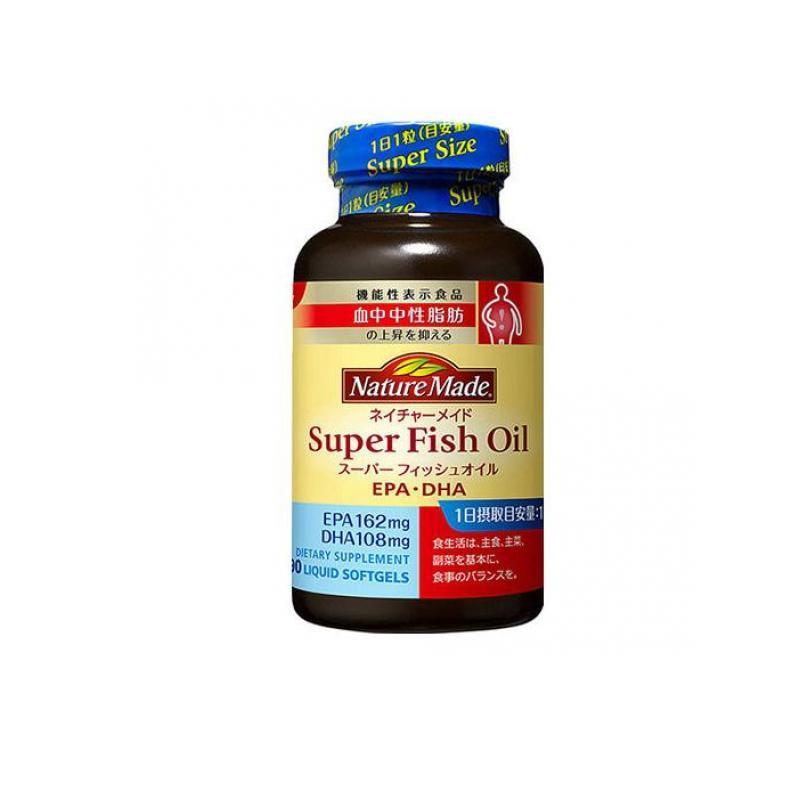 サプリメント EPA DHA 中性脂肪 ネイチャーメイド スーパーフィッシュオイル 90粒 (1個) minoku-value