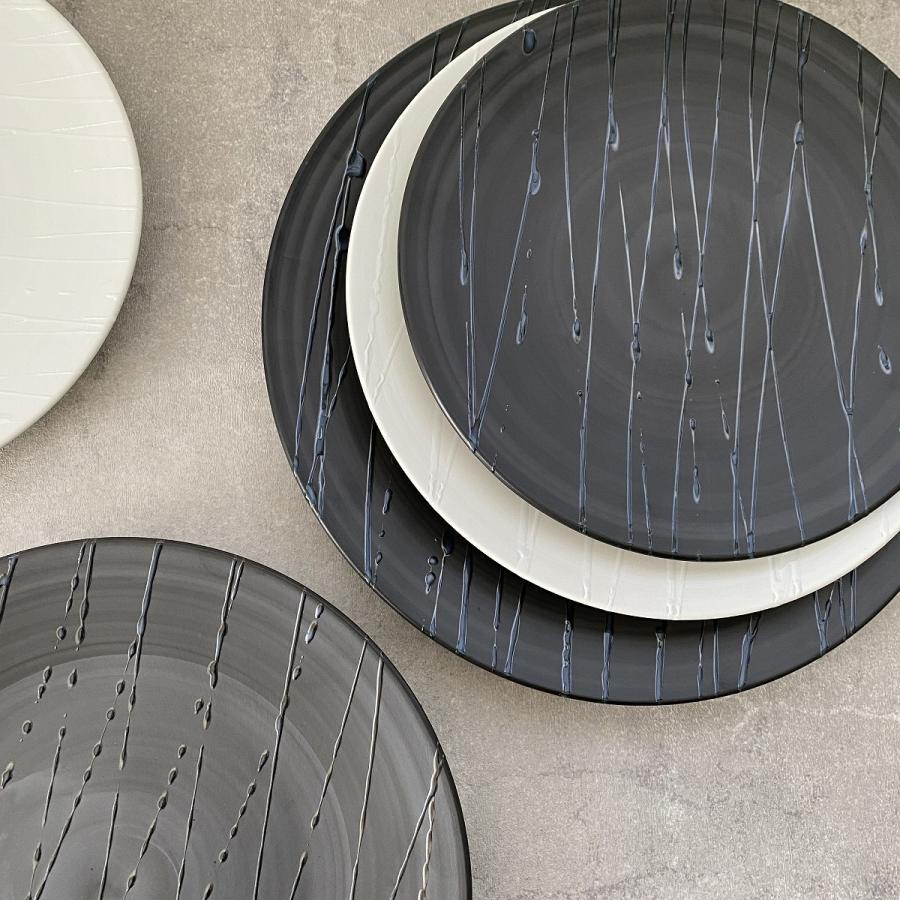 丸皿 プレート 食器 波吹き28.5cm皿 陶器|minopota|02