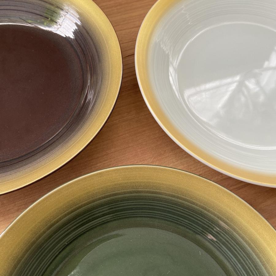 丸皿 金彩吹21cm深皿 ゴールド 食器 うつわ 陶器 美濃焼|minopota|02