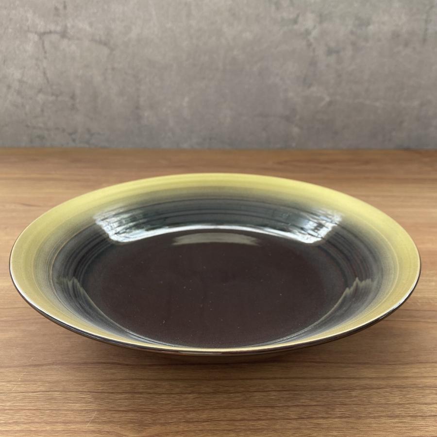 丸皿 金彩吹21cm深皿 ゴールド 食器 うつわ 陶器 美濃焼|minopota|07