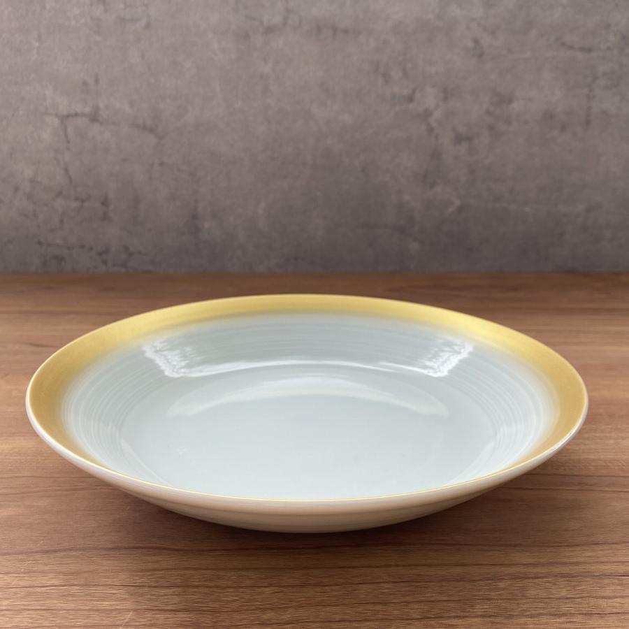 丸皿 金彩吹21cm深皿 ゴールド 食器 うつわ 陶器 美濃焼|minopota|08