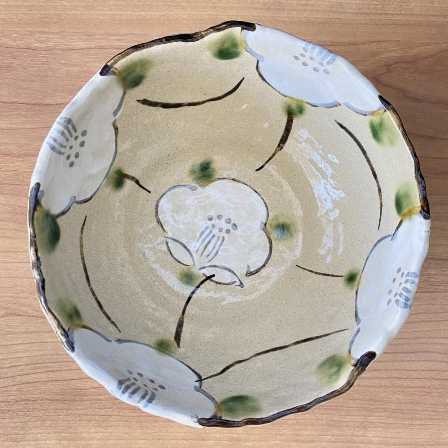 中鉢 おしゃれ 食器 格子花5.0鉢 陶器 盛鉢 美濃焼 |minopota|02